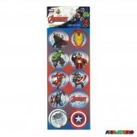 Cartela com 30 Adesivos para lembrancinha Vingadores - Licenciado