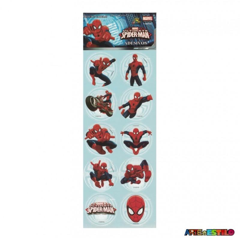 Cartela Com 30 Adesivos Para Lembrancinha Homem Aranha
