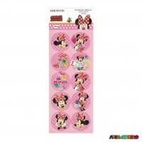 Cartela com 30 Adesivos para lembrancinha Minnie Disney - Licenciado