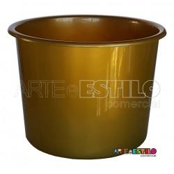 10 Baldes de Pipoca e Lembrancinhas 1,5 Litros - Dourado