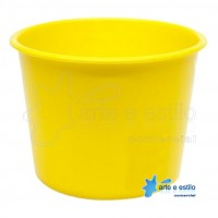 10 Baldes de Pipoca e Lembrancinhas 1,5 Litros - Amarelo