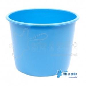 10 Baldes de Pipoca e Lembrancinhas 1,5 Litros - Azul Bebê