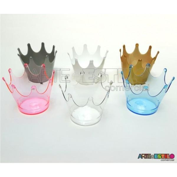 Promoção - 10 Cachepôs Coroa, Mini vasos Coroa p/decoração de mesa e lembrancinha - R$0,99 cada