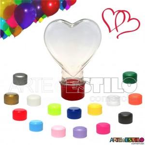 10 Mini Baleiros Tubete Coração c/ tampa Só R$0,69 cada