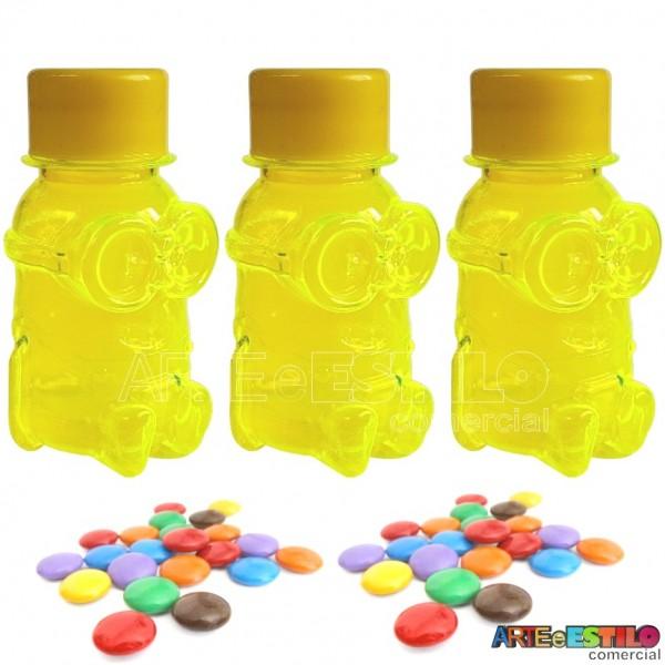 Promoção !!! 10 Baleiros modelo Minions Amarelo c/ tampa Só R$0,49 cada