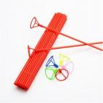 10 Varetas Pega Balão de mão com p/ balão Metalizado - Escolha a cor