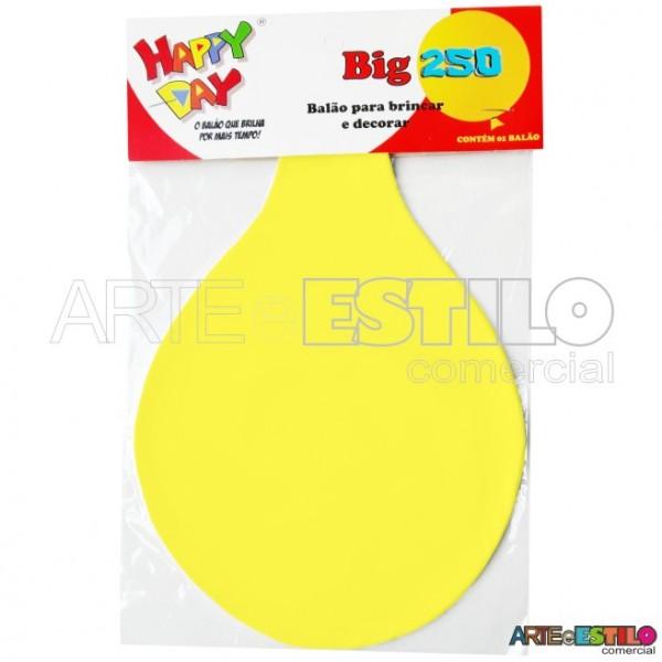 Balão BIG Liso Amarelo - Bexigão para Doces e Decoração de festas - Emb. c/ 01 unidade