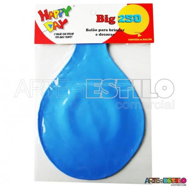 Balão BIG Liso Azul - Bexigão para Doces e Decoração de festas - Emb. c/ 01 unidade