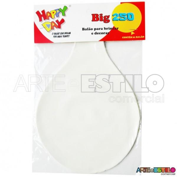 Balão BIG Liso Branco - Bexigão para Doces e Decoração de festas - Emb. c/ 01 unidade