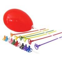 10 Varetas Pega Balão de mão com 32 cm - Escolha a cor