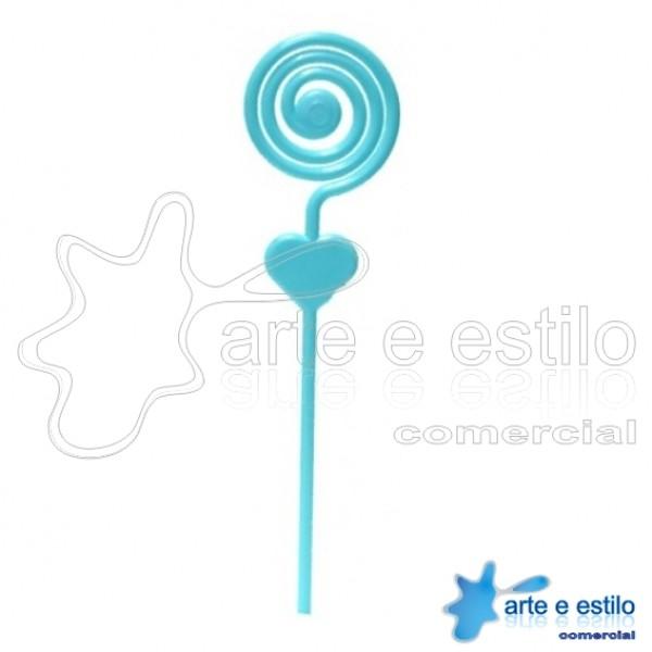 Emb c/ 10 Espirais plástico p/ montagens diversas - Cor Azul Bebê