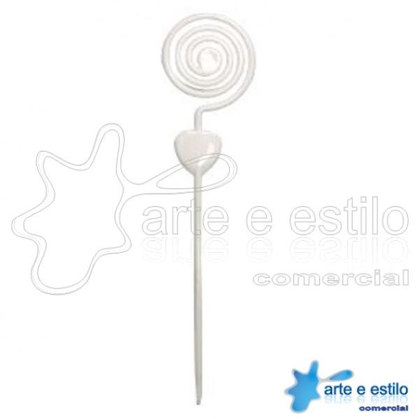 Emb c/ 10 Espirais plástico p/ montagens diversas - cor Branca