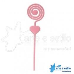 Emb c/ 10 Espirais plástico p/ montagens diversas - Cor Rosa Bebê