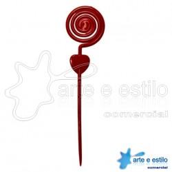 Emb c/ 10 Espirais plástico p/ montagens diversas - cor Vermelho