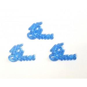 10 Plaquinhas De Acrilico 15 Anos Azul