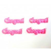 10 Plaquinhas De Acrilico Cheguei Rosa