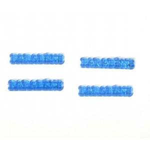 10 Plaquinhas De Acrilico Parabens Azul