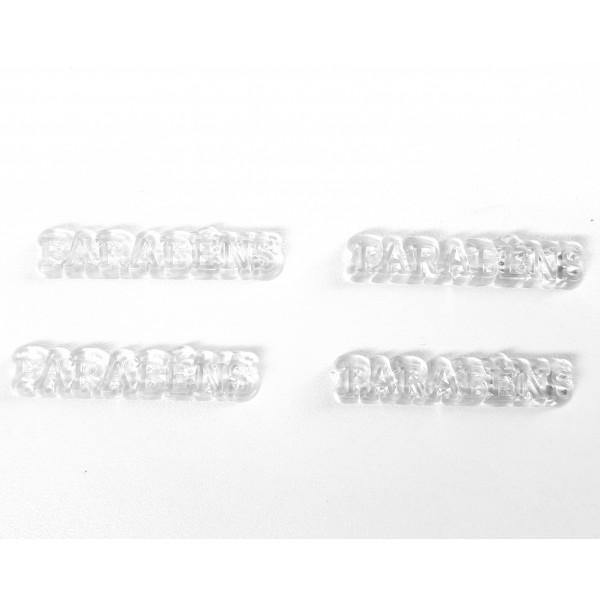 10 Plaquinhas De Acrilico Parabens transparente