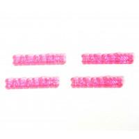 10 Plaquinhas De Acrilico Parabens Rosa