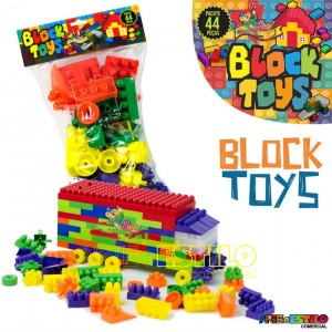 Brinquedo de montar Block Toys Solapa c/ 44 pçs