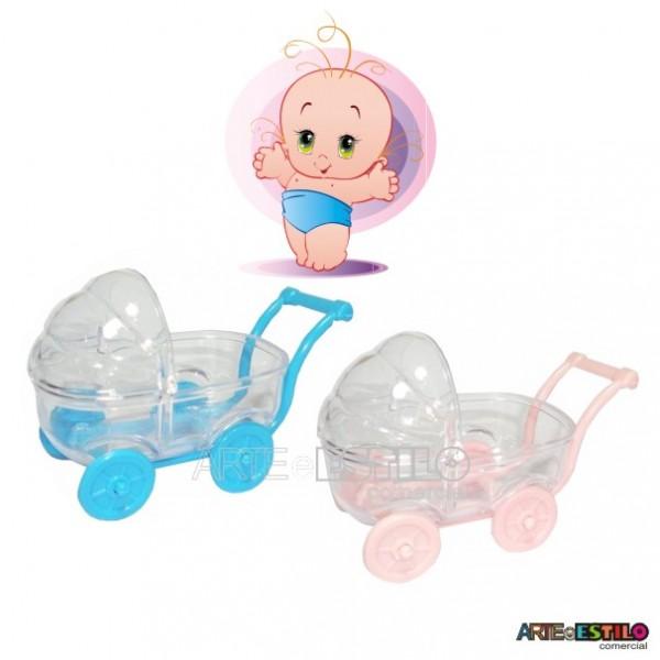 05 Carrinhos de Bebê em acrílico para lembrancinha chá de bebê e nascimento - Só R$1,49 cada