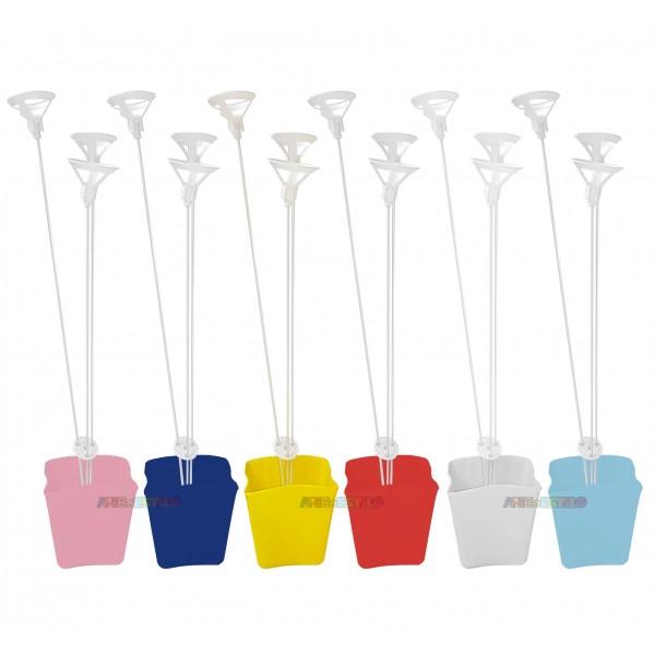 01 Cachepô com Suporte de Balão, mini vasinhos para decoração de mesa e lembrancinha