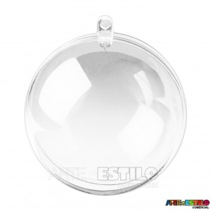 10 Esfera acrílica 6,5 cm de diametro - Bola de Acrílico Transparente