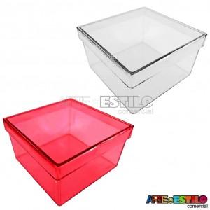 06 Caixinhas de acrílico Transparente 7X7X4