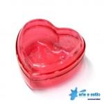 10 Caixinhas Coração em Acrílico 7X7X4 - Só R$0,79 cada
