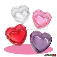 10 Caixinhas Coração em Acrílico 7X7X4 - Só R$0,69 cada