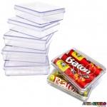 06 Caixinhas de acrílico Retangulares 7x5x1,9cm Transparentes - Caixinhas p/ 03 batons de chocolate - R$0,79 cada