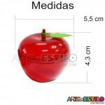 10 Caixinhas de acrílico modelo Maçãzinha - Cor Vermelha - R$0,99 cada