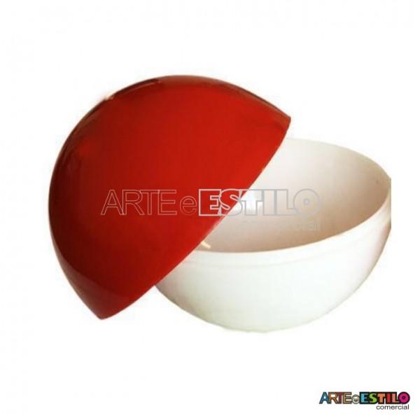 10 Esfera acrílica 6,5 cm de diametro vermelha e branca - Pokebola