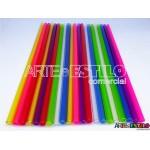 Emb c/ 10 Canudos de Acrílico Transparente cristal - 20 cm