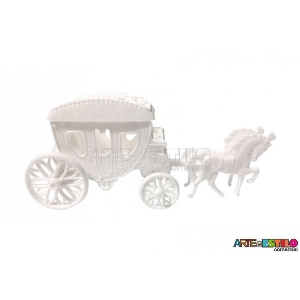 Carruagem Branca Lembrancinha serve como Caixinha ou Porta jóia motivo Princesas, Frozen etc