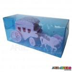 Carruagem Azul Lembrancinha serve como Caixinha ou Porta jóia motivo Princesas, Frozen etc