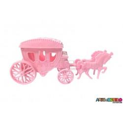 Carruagem Rosa Lembrancinha serve como Caixinha ou Porta jóia motivo Princesas, Frozen etc