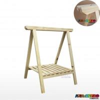 01 Cavalete Studio de Madeira para mesa com Prateleira - 75 x 80 cm - Só R$34,95 cada