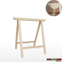 01 Cavalete Studio de Madeira para mesa, bancada, aparador - 75 x 80 cm - Só R$27,90 cada