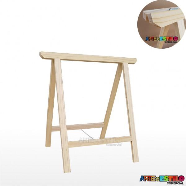 01 Cavalete Studio de Madeira para mesa, bancada, aparador - 75 x 90 cm - Só R$30,95 cada