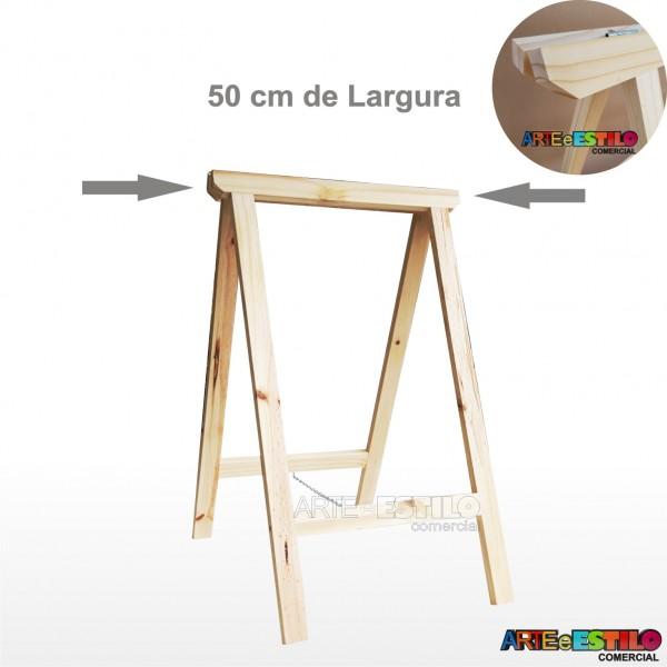 01 Cavalete Studio de Madeira para mesa - 50 x 80 cm - Só R$24,95
