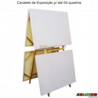 Cavalete de Exposição e Pintura p/ até 04 quadros c/ Regulagem de Altura - Modelo 3 - 60x170