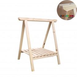 01 Cavalete Studio de Madeira para mesa com Prateleira - 75 x 80 cm