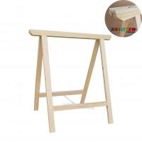 01 Cavalete Studio de Madeira para mesa, bancada, aparador - 75 x 80 cm