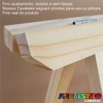 04 Cavaletes de Madeira para mesa de festa, bancada, aparador - 75x50cm e 75x80 cm