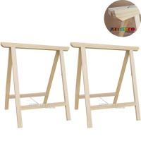 02 Cavaletes Studio de Madeira para mesa, bancada, aparador - 75 x 80 cm