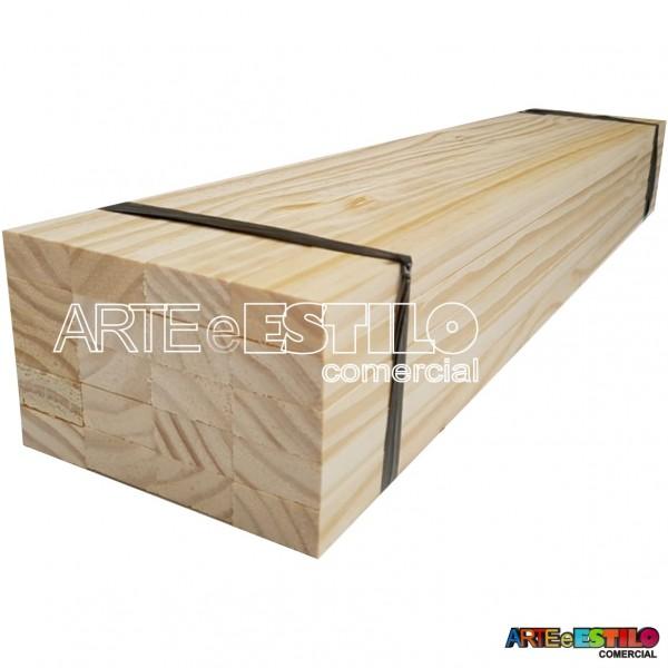 Fardo com 20 ripas de pinus 2x1,8cm com 100 cm de comprimento cada