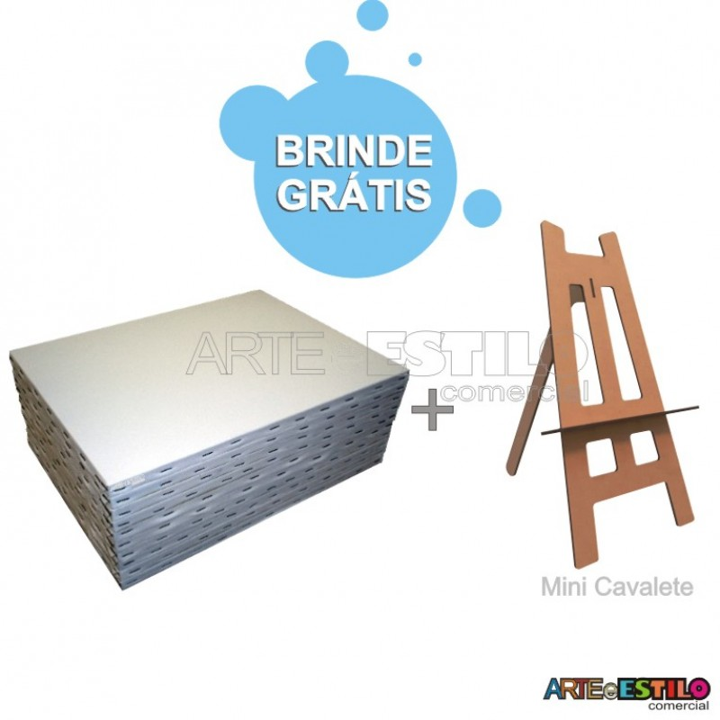 d69fc54fc98 Kit de Pintura Infantil c  06Telas 20x30 + 01 Mini Cavalete Gratis ...