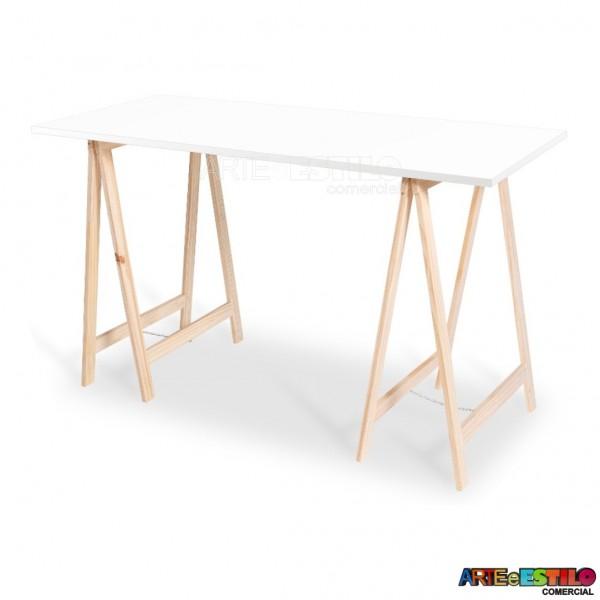 Mesa de cavaletes home office, escrivaninha, mesa para festas