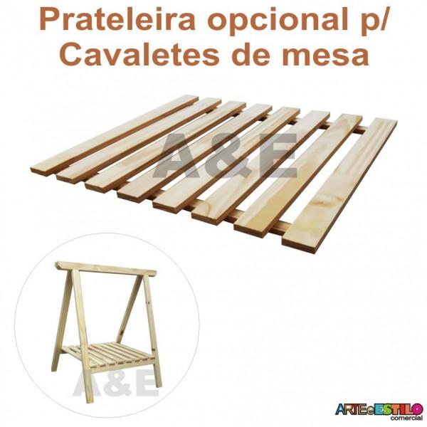 01 Prateleira estrado para cavalete studio de Madeira modelo 75 x 80 cm - Só R$10,00